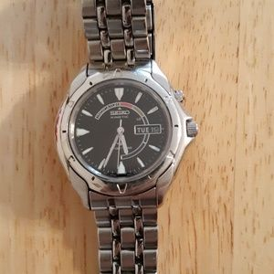 Seiko Kinetic Men's Stainless Steel Watch